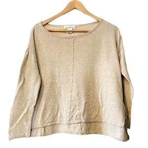 H&M | Knit Stretch Cream Oversized Sweater M